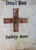 Dead Box - Safety Area sign
