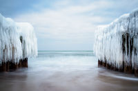 Winter an der Küste der Ostsee bei Kühlungsborn
