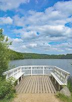 idyllic Lake Ukleisee in Holstein Switzerland,Schleswig-Holstein,Germany