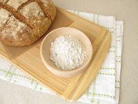 Homemade rye bread and rye flour