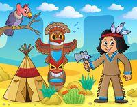 Native American boy theme image 3