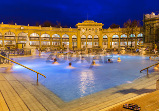 Szechnyi thermal bath spa in Budapest Hungary