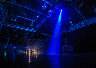 people and audience in large structure ready for exposition