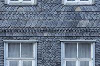 Goslar - Slate-faced old town building