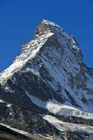 North face at the Matterhorn peak, Zermatt, Valais, Switzerland