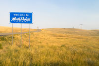 Welcome to Legendary North Dakota Road Entry Sign