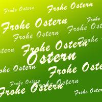 Frohe Ostern grün