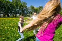Family having fun in park