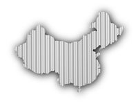 Karte von China auf Wellblech - Map of China on corrugated iron