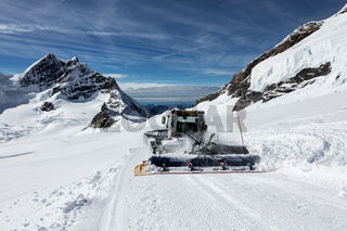 Snowplow - snow piste.