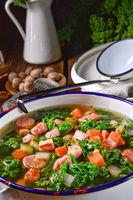 a tasty kale soup