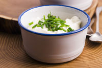 cottage cheese with chives