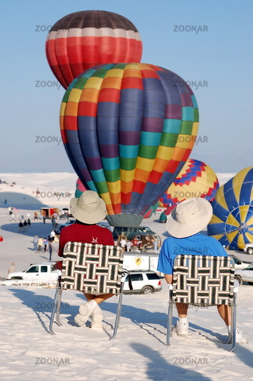 Balloon Festival in the desert of White Sands