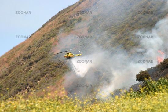 Brush fire in Ventura