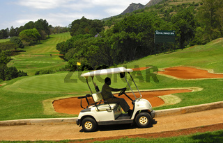 Golfmobil Golfplatz des Royal Swazi Spa Hotel Resort