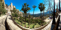 Panoramic view of the road up to mountain of Guadalest. Spain