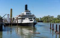 Delta King paddleboat on Sacramento River California