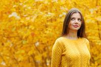 Autumn portrait of woman