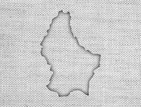 Karte von Luxemburg auf altem Leinen - Map of Luxembourg on old linen