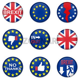 Brexit British referendum concept icons
