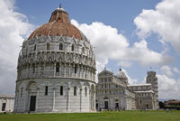 Baptistery, Piazza del Duomo, square, Pisa, Tuscany, Italy, Europe