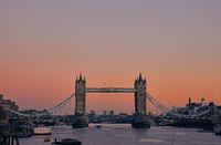 Tower Bridge during sunset, London, United Kingdom