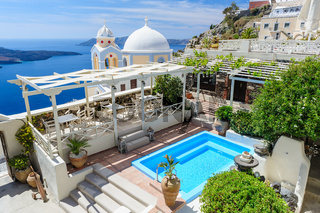 Oia luxury decks and patios