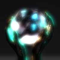 3D Illustration of a Crystal Ball
