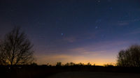 Sky with stars after sunset