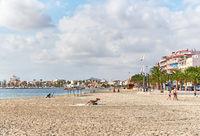 San Pedro del Pinatar beach. Spain