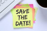 Save the date Termin Datum Einladung Verabredung Business Schreibtisch