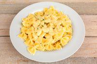 italian farfalle with sauce