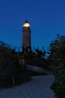 Leuchtturm Darßer Ort am Westtrand von Prerow