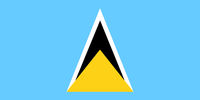 Fahne von St Lucia - Colored flag of Saint Lucia