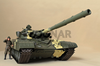 Soviet tank T-72  front view