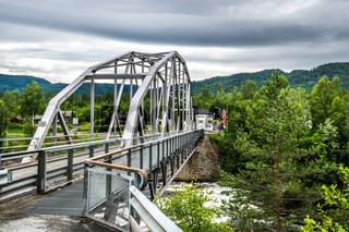 Stahlbrücke in der Telemark in Norwegen