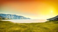 nature scenery sunset background