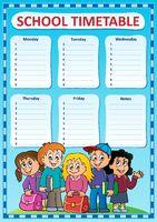 Weekly school timetable design 3