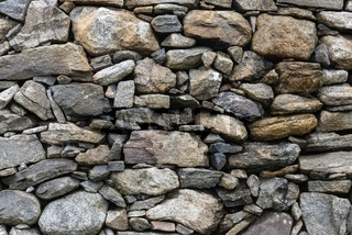 Fassade aus Natursteine, Isle of Harris