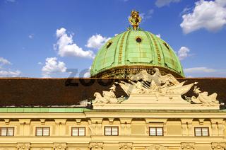 Hofburg, Kuppel über dem Michaelertor, Wien
