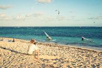 Photographer shooting photos on the beach