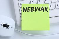 Webinar online Schulung Internet Seminar Lehrgang Kurs Workshop lernen Bildung Business Konzept Maus