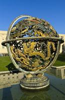 Celestial Sphere Woodrow Wilson Memorial, Palais des Nations, United Nations, Geneva, Switzerland