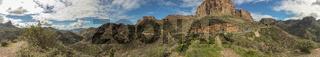 Panorama von Gebirge in Tejeda, Gran Canaria