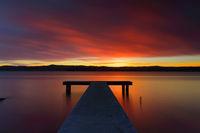 Glorious Australian sunset and jetty