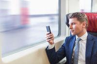 Businessman in a train