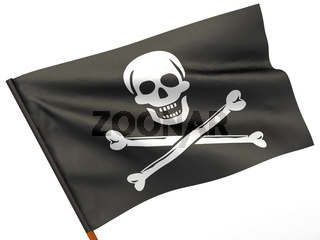 Holly Rojer flag on white isolated background. 3d