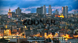 Panoramic view of Istanbul with Galata Tower