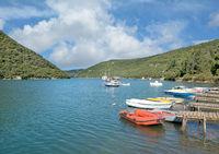 at Limski Canal or Limfjord in Istria near Rovinj,adriatic Sea,Croatia