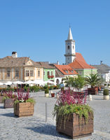 Market place of Rust at Neusiedlersee,Burgenland,Austria